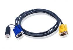2L-5202UP — КВМ-кабель со встроенным конвертером интерфейса PS/2-USB и разъемом SPHD 3-в-1 (1.8м)