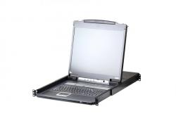 CL5716IM-ATA-RG — 16-портовый, PS/2, USB, VGA, КВМ-переключатель с ЖК дисплеем 17