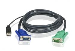 2L-5205U — КВМ-кабель с интерфейсами USB, VGA и разъемом SPHD 3-в-1 (5м)