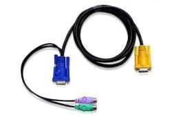 2L-5702P — КВМ-кабель с интерфейсами PS/2, VGA и разъемом SPHD 3-в-1 (1.8м)