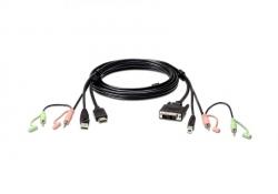 2L-7D02DH — КВМ-кабель с интерфейсами передачи звука, USB, HDMI - DVI-I (1.8м)