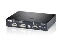 KE6940T-AX-G Передатчик KVM-удлинителя KE6940 с передачей сигналов по TCP/IP (в среде LAN L2), поддержкой 2-ух мониторов и интерфейсами USB, DVI-I, аудио, RS-232
