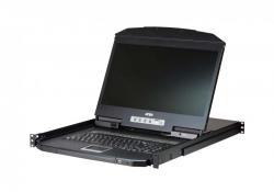 CL3108 —  8-портовый, PS/2, USB, VGA, 1U КВМ-переключатель с ЖК дисплеем, с возможностью установки в стойку малой глубины