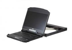 CL3800NW-ATA-RG —KVM-консоль для установки в узкую стойку. С интерфейсами USB, HDMI, DVI, VGA, функционалом Dual Rail и поддержкой подключения USB периферии