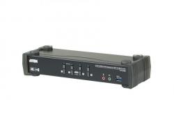 CS1924M-AT-G 4-портовый DisplayPort USB audio 3.0 KVMP™-переключатель с поддержкой 4K (KVMP Switch)