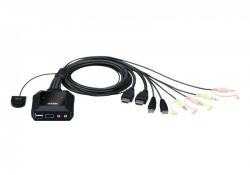 2-портовый 4K HDMI, USB, KVM-переключатель