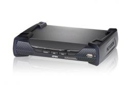 KE6900R-AX-G  Приемник KVM-удлинителя (KE6900) с передачей сигналов по TCP/IP (в среде LAN L2), поддержкой 1-го монитора и интерфейсами USB, DVI-I, аудио, RS-232