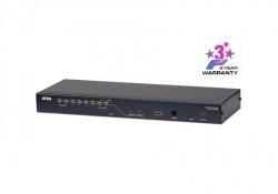 KH2508A-AX-G 2-консольный, 8-портовый переключатель с подключением кабелями Cat 5