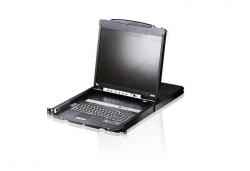 CL5816N-ATA-RG 16-портовый, PS/2, USB, VGA,  KVM-переключатель(KVM switch) Dual Rail с ЖК-дисплеем