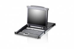 CL5708N-ATA-RG 8-портовый, PS/2, USB, VGA, КВМ-переключатель с ЖК дисплеем