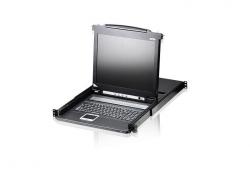 CL1008M-ATA-RG 8-портовый PS/2, VGA, KVM-переключатель с ЖК-дисплеем Slideaway