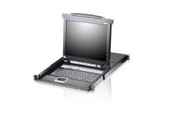 CL5708M-ATA-RG 8-портовый, PS/2, USB, VGA, КВМ-переключатель с ЖК дисплеем