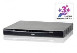 KN2124VA-AX-G 24-портовый KVM-переключатель (KVM Switch) KN2124VA с доступом по IP и поддержкой 1-локальной/2-х удаленных консолей доступа
