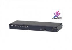 KH1508A-AX-G  — 8-портовый высокоплотный KVM-Переключатель (KVM Switch) с подключением устройств по кабелю Кат 5