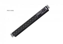 PE0110SG — Базовый 1U 10 розеточный PDU с защитой от перенапряжения
