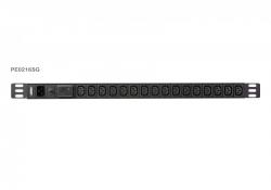 PE0216S — 0U базовый 16 розеточный блок распределения питания ()PDU с защитой от перегрузок