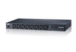 PE7108G-AX-G — 10A 8-розеточное PDU с возможностью удаленного контроля дистанционно по сети  на уровне отдельных розеток и группы розеток.