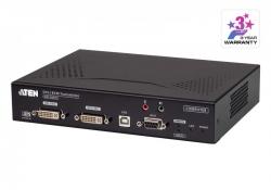 RCMDVI40AT — DVI-I KVM-удлинитель с доступом по IP с поддержкой двух дисплеев и специальными функциями удаленного управления (передатчик)